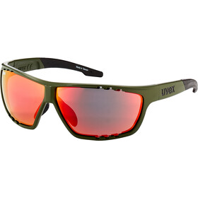 UVEX Sportstyle 706 Glasses, olive/red